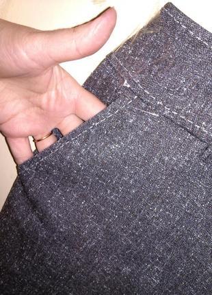 Приятные серые (весна,осень) брюки с карманами,большого 20-22 ...