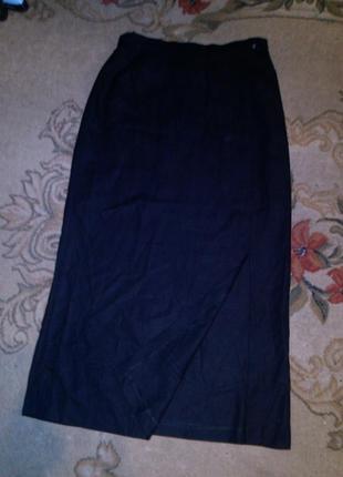Стильная,длинная,юбка-карандаш с разрезом по ноге,с подкладкой...