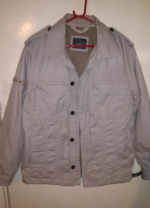 Мужская,натур,куртка-ветровка в стиле милитари,с карман.grey c...