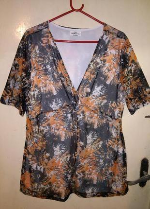 Очаровательная блуза-туника,сеточка с трикотажной подкладкой,б...