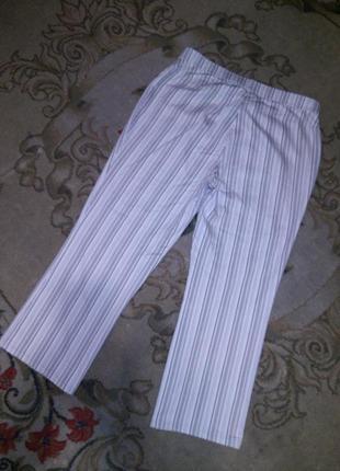 Стильные,стрейчевые джинсы-брюки в полоску,с карманами, бол.18...