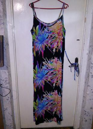 Красивейшее,яркое,длинное платье-сарафан в пол,трикотаж-масло,...