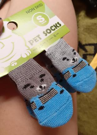 4 шт., нескользящие носки для домашних животных, размеры s