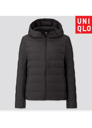 Черная Куртка Uniqlo Пуховик Размер М Складывается В Мешочек