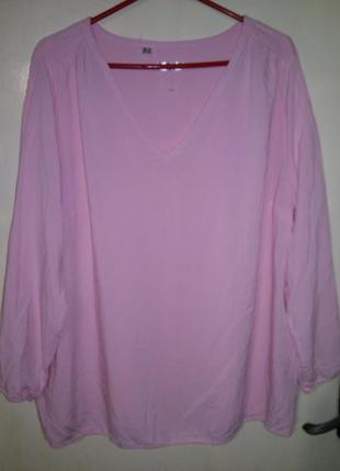 Натурал.-100%вискоза,нежно-розовая,женственная блуза, бол.gb 2...