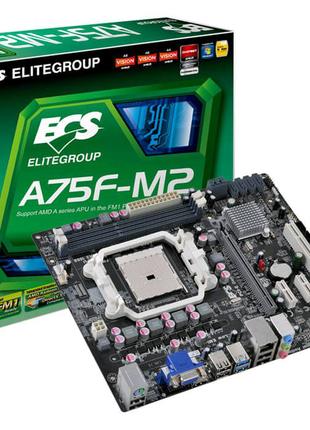 Материнская плата Elitegroup A75F-M2 ( sFM1, AMD A75, PCI-Ex16)