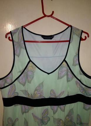Чудесное,длинное платье в пол, мятно-салатовое в бабочки,с под...