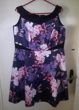 Красивейшее,коттон-эластан платье,приоткр.плечами,пышной юбкой...