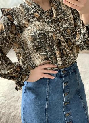 Блузка в леопардовый принт zara