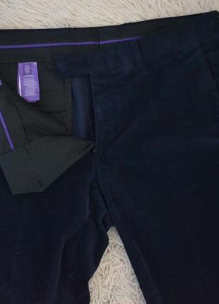 Вельветовые синие штаны ralph lauren purple label
