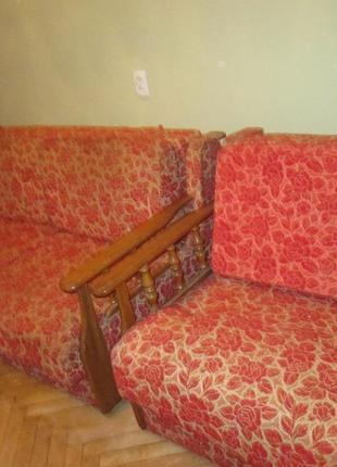 """М'який комплект меблів: диван """"Малютка"""" і два розкладних  крісла"""