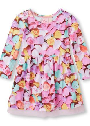 Платье для девочки  длинный рукав