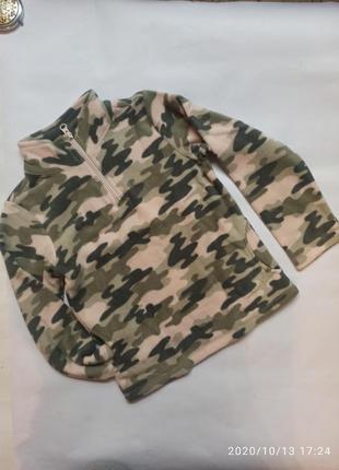Флисовая кофта флиска свитер для девочки