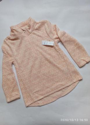 Флисовая кофта свитер флиска для девочки