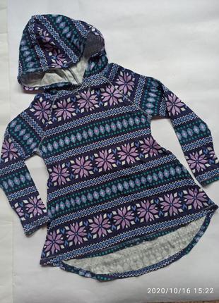 Кофта свитер капюшонка худи туника