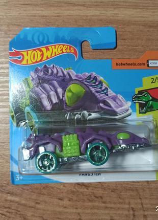 Колекционная машинка хот вилс hot wheels динозавр fangster