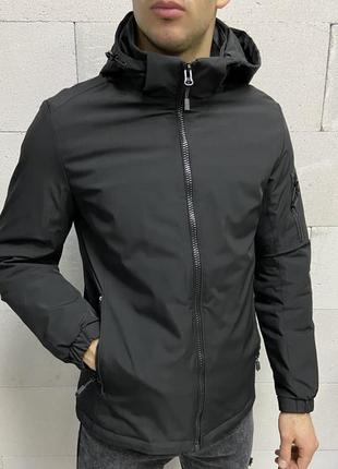 Куртка мужская черная турция / курточка чоловіча ветровка вітр...