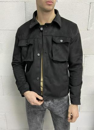 Пиджак куртка мужская замшевая черная турция / піджак чоловічи...