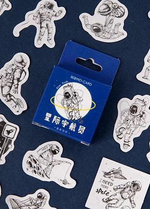 Набор наклеек, стикеров для скрапбукинга космос, космонавт