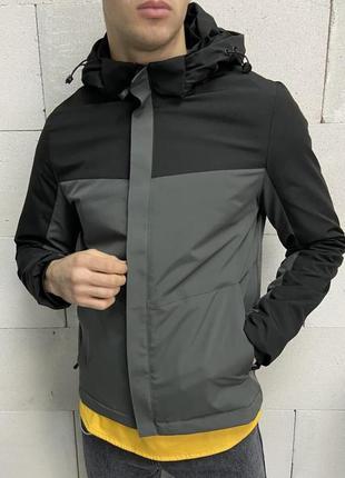Куртка мужская черная серая турция / курточка чоловіча ветровк...