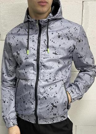 Куртка мужская серая турция / курточка чоловіча ветровка вітровка