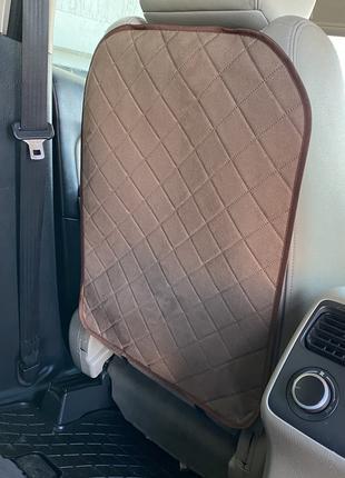 ✅Накидка на спинку переднего сидения с алькантары, Ромб, Коричнев