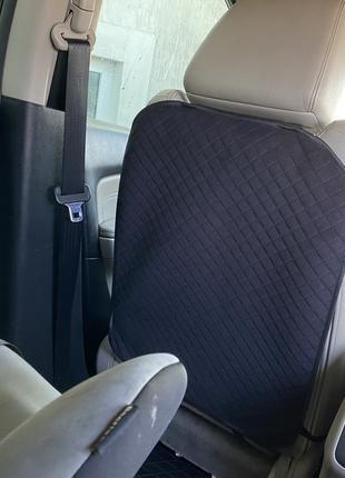 ✅ Накидка на спинку переднего сидения с алькантары, Ромб, Черные