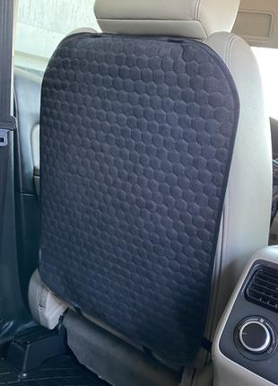 ✅ Накидка на спинку переднего сидения с алькантары, Соты, Черные