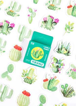 Набор наклеек, стикеров для скрапбукинга кактусы