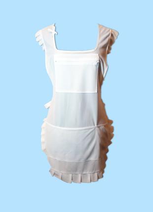 Фартух білий з карманами розмір M-XXL