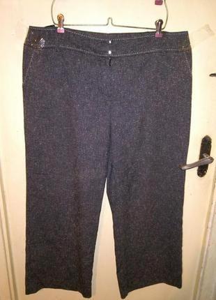 Приятные,серые-меланж (весна,осень) брюки с карманами,большого...