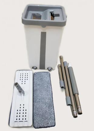 Швабра и Ведро Большое Scratch Cleaning Mop со складной ручкой