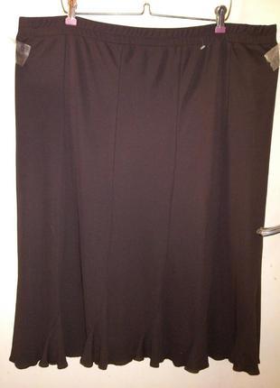 Трикотажная, юбка на резинке,большого 22-24 размера,sempre piu...