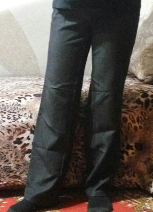 Штаны брюки прямые серые для беременных Baby Жду 46-50р стрейч