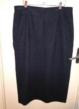 Элегантная,длинная,тёплая,серая,юбка с разрезом,карманом,больш...