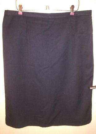 Элегантная,классическая,серая юбка-карандаш,с подкладкой,больш...