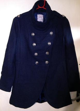 Стильная,тёплая-35% шерсть,деми,куртка-полупальто с карманами,...