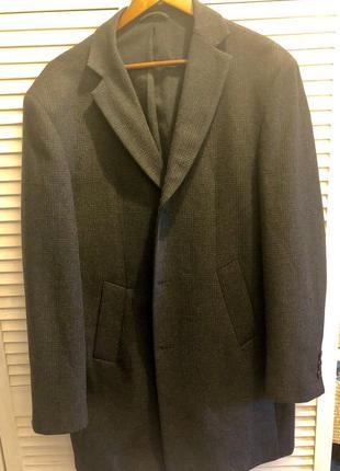 Шерстяное мужское пальто skopes на шерстяной тонкой подкладке