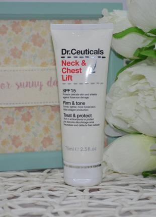 Крем для подтяжка шеи и груди с спф защитой dr ceuticals neck ...