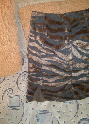 Необычная,оригинальная  юбка с тигровым,меховым  принтом,весна...