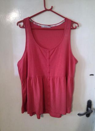 Ярко-розовая блузка-маечка,большого размера, george