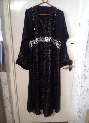 Шикарное,вечернее платье,в пол,большого 60 размера