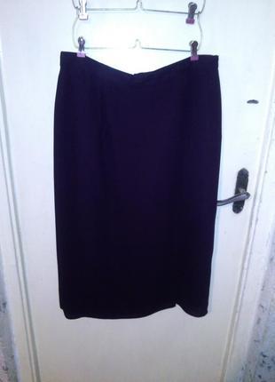 """Классическая юбка-карандаш, """"баклажанного"""" цвета,с запахом и р..."""