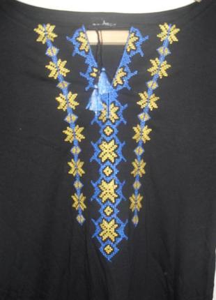 Новая-без бирки,натуральная,красивая блуза-вышиванка