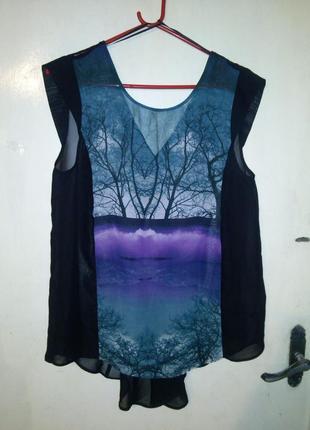 Красивая,модная -блуза-туника с удлиненной спинкой,от george