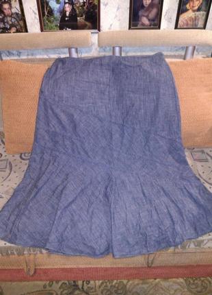 Длинная,джинсовая юбка,большого 24 размера,rodger+rodger