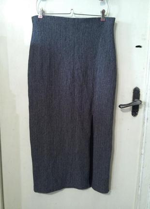 Элегантная,длинная,стрейчевая юбка-карандаш,с разрезом