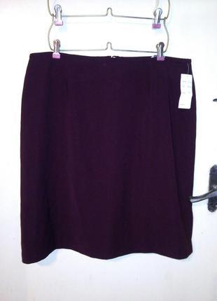 Новая,с биркой юбка-карандаш,цвета марсала,большого размера, m...