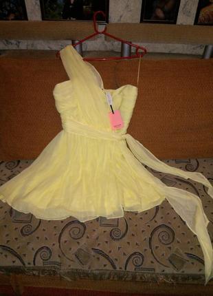Новое,с бирками,светло-лимонное,нарядное платье, kate moss
