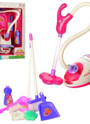 Игровой набор для уборки 5999 пылесос, совок, щетка, звук, свет,